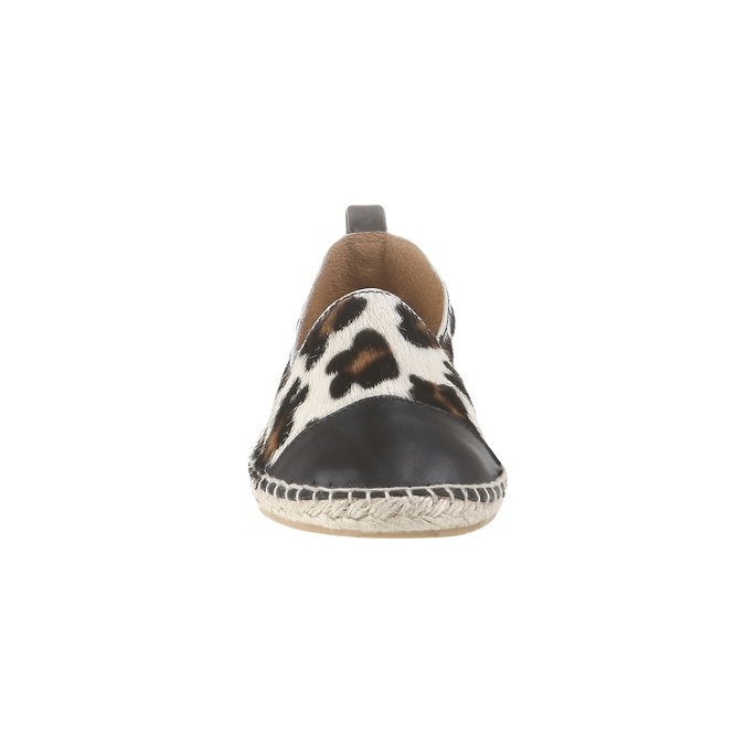Výjimečné espadrilky s motivem leopardí kůže bata, bílá, 2017-555-1300 - 16