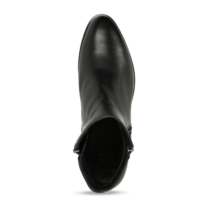 Dámská obuv z černé kůže ke kotníkům bata, černá, 594-6697 - 17