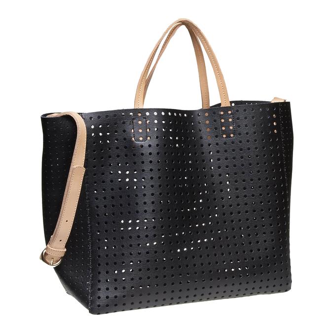 Kožená kabelka ve svěžím designu bata, černá, 2018-964-6130 - 13