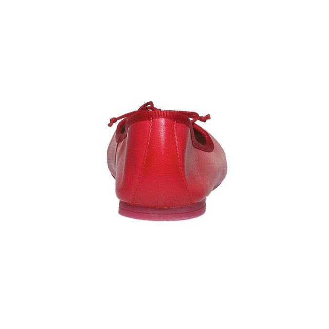 Kožené baleríny bata, červená, 2018-524-5144 - 17