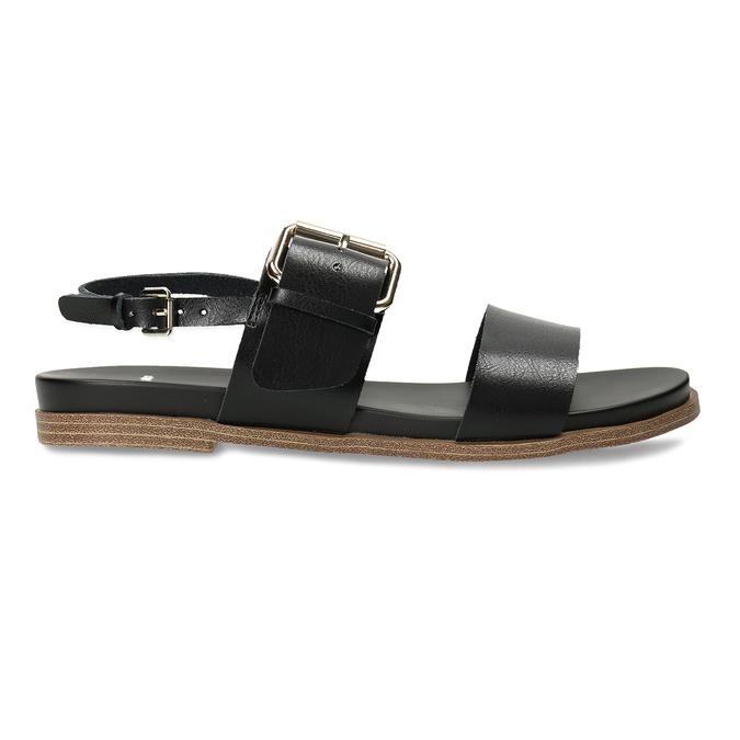 Dámské černé sandály bata, černá, 561-6621 - 19