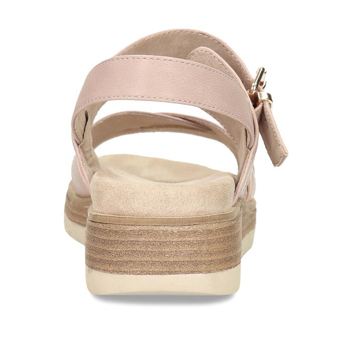 Dámské růžové páskové sandály bata, béžová, 561-5605 - 15