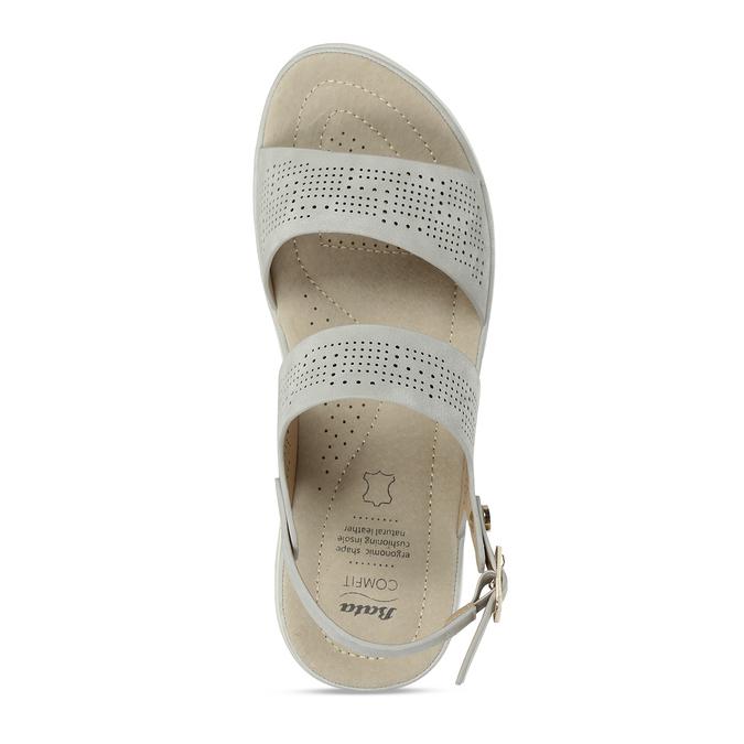 Šedé dámské sandály s perforací comfit, šedá, 561-2603 - 17