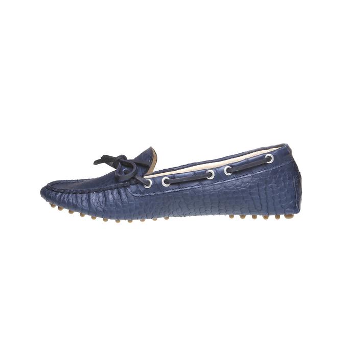 Kožené mokasíny bata, modrá, 2019-515-9330 - 15