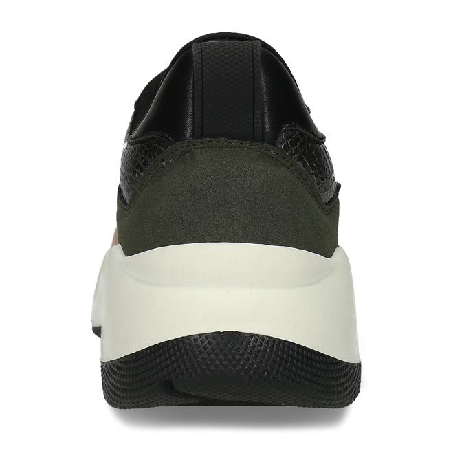 Černo-růžové dámské Chunky tenisky bata, vícebarevné, 549-5601 - 15