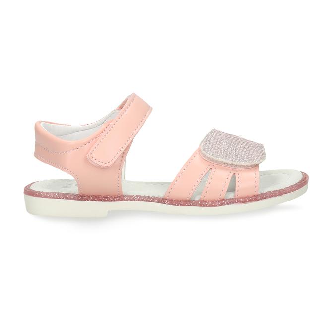 Růžové dětské sandály na suché zipy mini-b, růžová, 261-5601 - 19