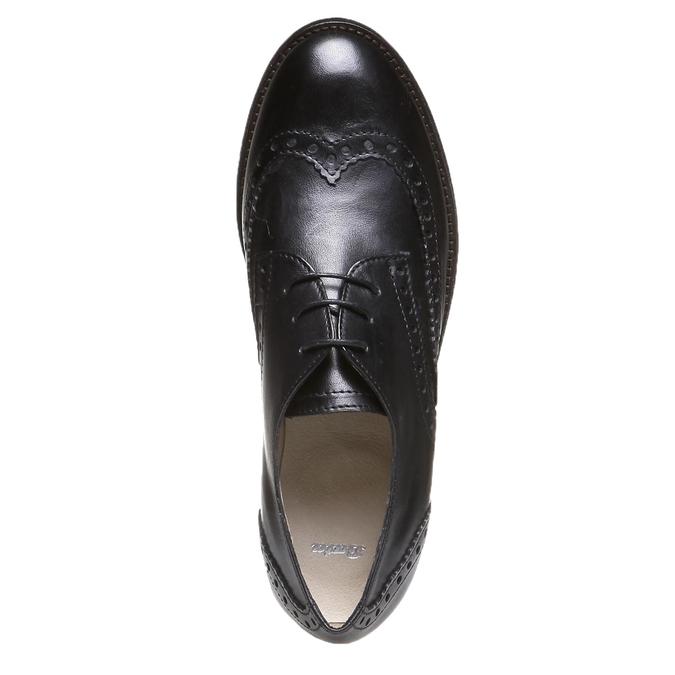 Kožené polobotky s klasickým zdobením bata, černá, 2019-524-6184 - 19
