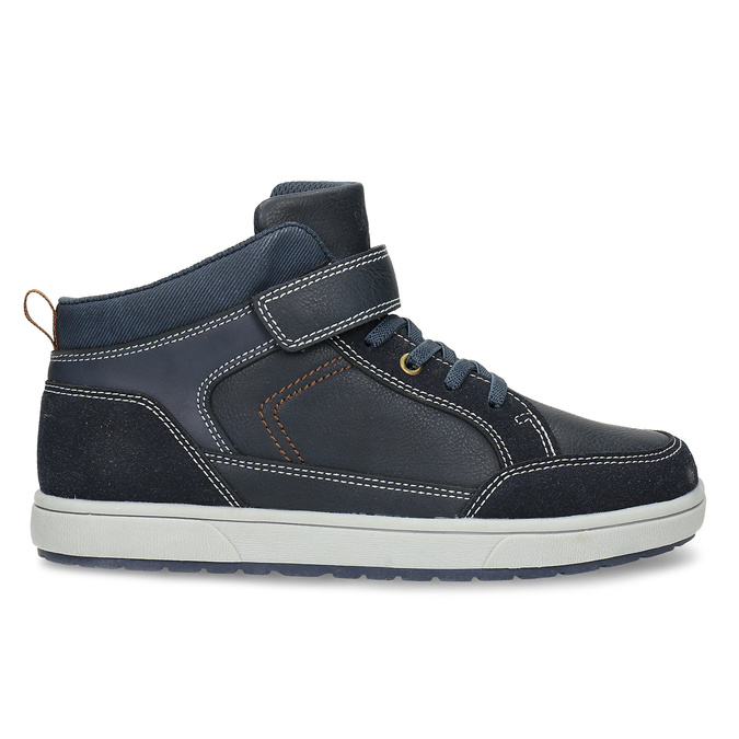 Dětská kotníková obuv černá mini-b, modrá, 311-9601 - 19