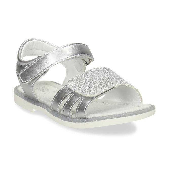 Stříbrné dětské sandály na suché zipy mini-b, stříbrná, 261-1601 - 13