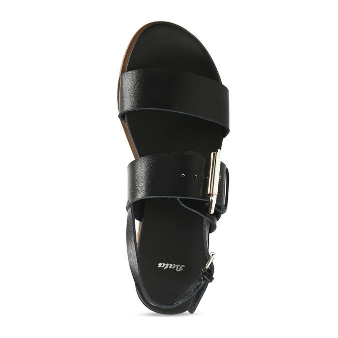 Dámské černé sandály bata, černá, 561-6621 - 17
