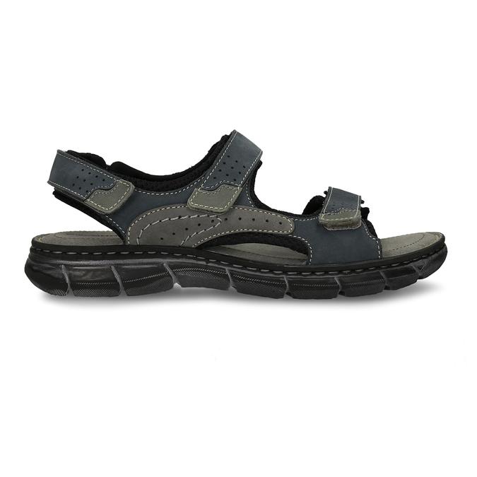 Pánské kožené sandály na suchý zip weinbrenner, modrá, 866-9603 - 19
