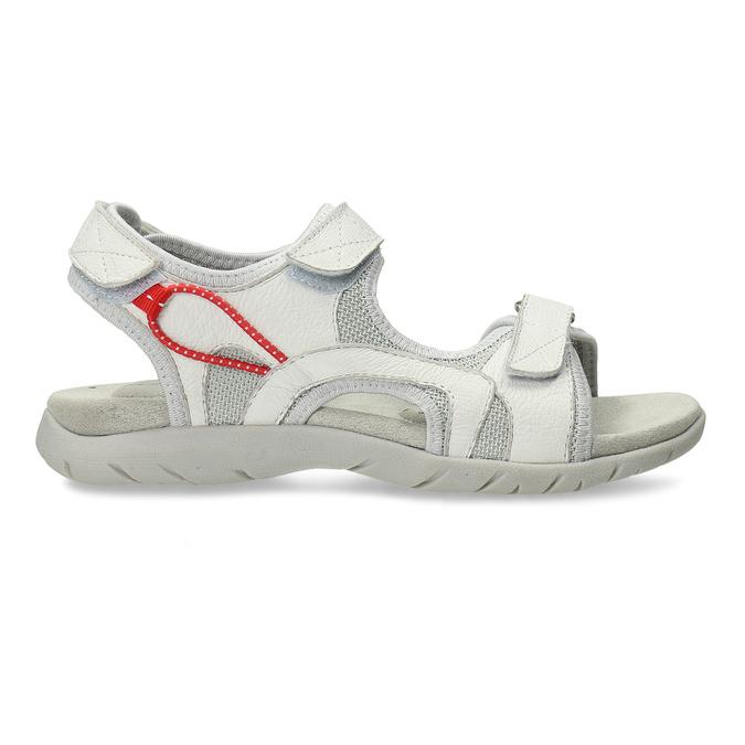 Dámské kožené bílé sandály weinbrenner, bílá, 564-1615 - 19