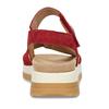 Červené dámské kožené sandály na hrubé podešvi gabor, červená, 563-5104 - 15