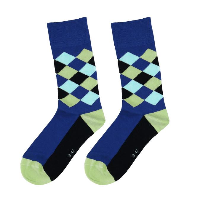 Pánské ponožky v modré barvě s hravou texturou bata, vícebarevné, 919-9763 - 26