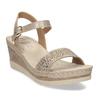 Zlaté dámské sandály na platformě comfit, zlatá, 661-8633 - 13