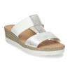 Kožené dámské pantofle na klínku bílé comfit, bílá, 566-1606 - 13
