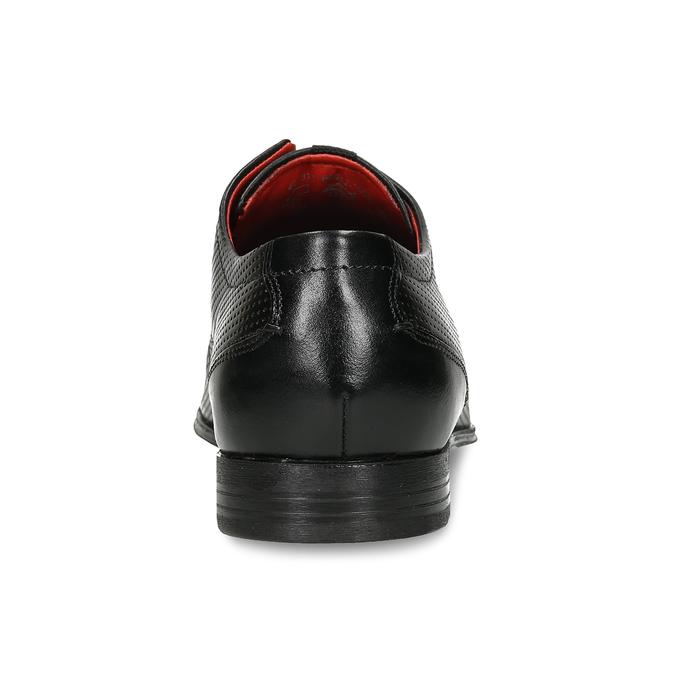 Černé kožené polobotky s perforací bugatti, černá, 826-6931 - 15