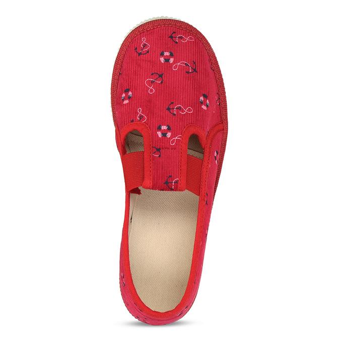 ČERVENÉ DÍVČÍ DOMÁCÍ PŘEZŮVKY S NÁMOŘNÍM MOTIVEM bata, červená, 379-5612 - 17