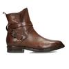Hnědá dámská kožená kotníková obuv bata, hnědá, 594-4622 - 19