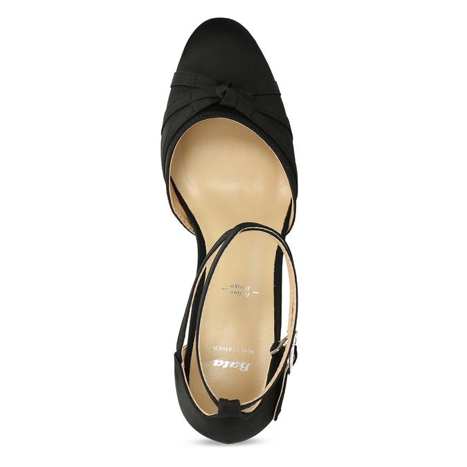 Černé dámské lodičky na nízkém podpatku bata, černá, 629-6608 - 17