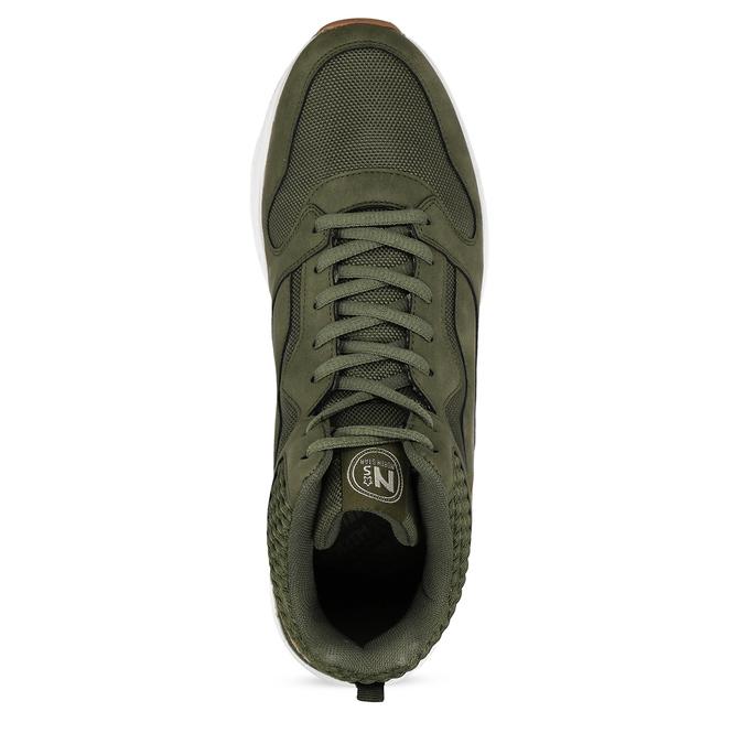 Pánské kotníkové khaki tenisky north-star, zelená, 841-7601 - 17