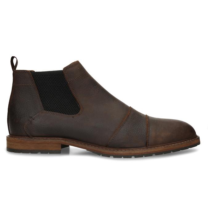 Hnědá pánská kožená Chelsea obuv bata, hnědá, 826-4713 - 19