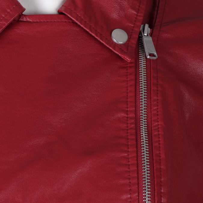Dámský červený koženkový křivák bata, červená, 971-5264 - 16