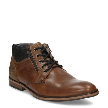 Hnědá pánská kotníková obuv kožená bata, hnědá, 826-3717 - 13