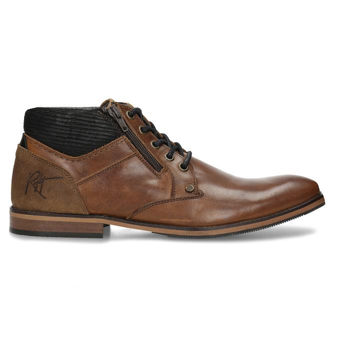 Hnědá pánská kotníková obuv kožená bata, hnědá, 826-3717 - 19
