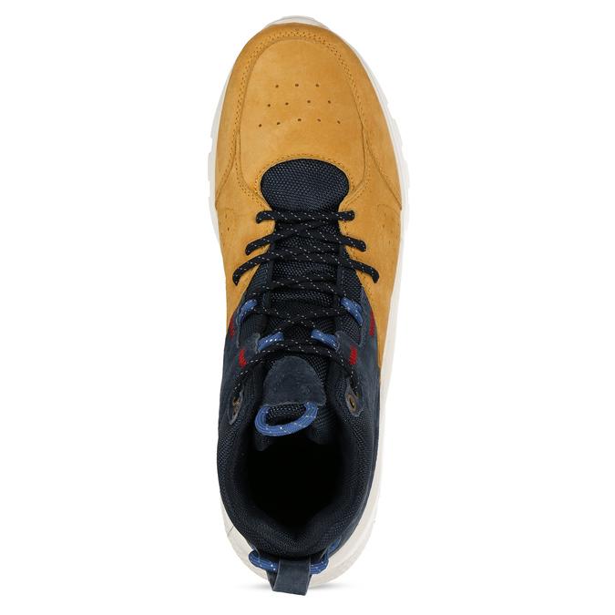 Pánské kožené kotníkové tenisky žluto-modré north-star, žlutá, 843-8605 - 17