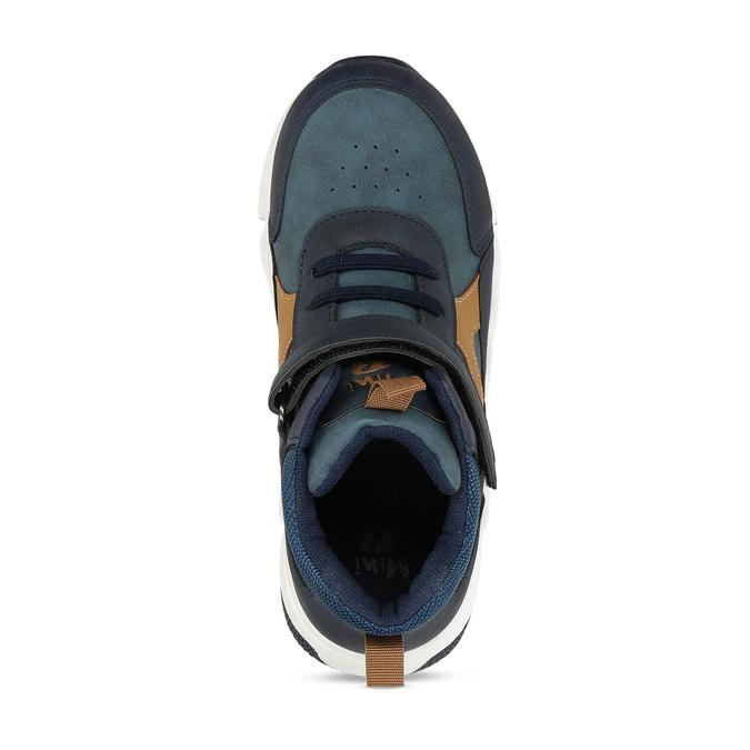 Modré chlapecké kotníkové tenisky mini-b, modrá, 211-9613 - 17