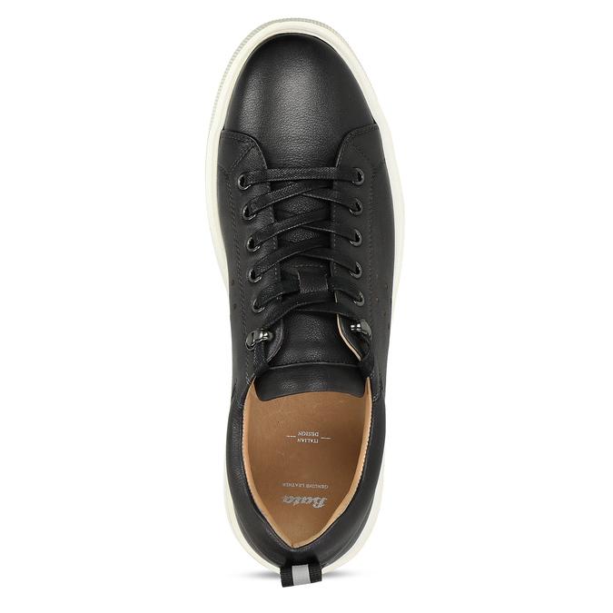 Pánské kožené tenisky v černé barvě bata, černá, 846-2717 - 17