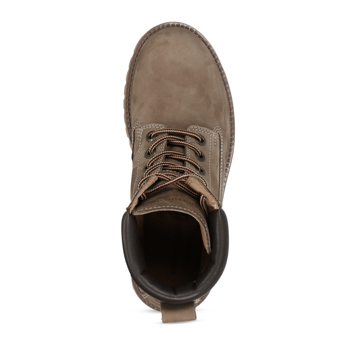 Dámská kožená kotníková obuv světle hnědá weinbrenner, hnědá, 596-4602 - 17