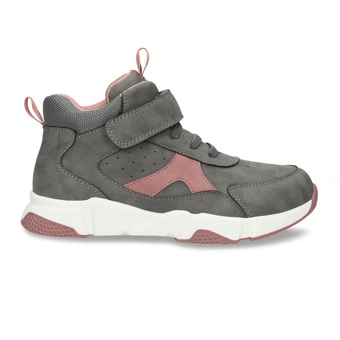 Šedo-růžové dívčí kotníkové tenisky mini-b, šedá, 221-2613 - 19