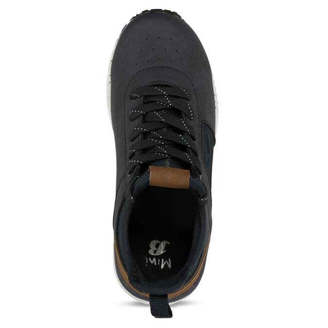 Dětská kotníková obuv modrohnědá mini-b, modrá, 311-9615 - 17