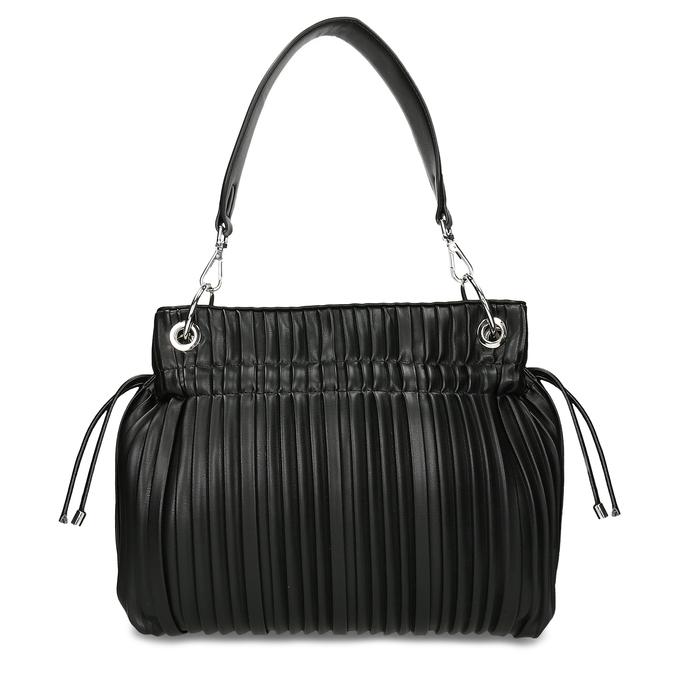 Černá dámská kabelka ze skládané koženky bata, černá, 961-6735 - 26