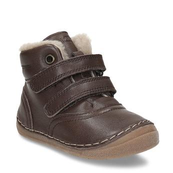 Dětská zimní hnědá kožená obuv froddo, hnědá, 194-4610 - 13