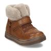 Dětská hnědá kožená zimní kotníková obuv s kožíškem froddo, hnědá, 194-4612 - 13