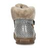 Dívčí šedá kožená zimní obuv s holografickým potiskem froddo, šedá, 194-2612 - 15
