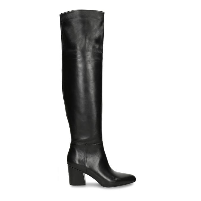 Dámské vysoké kozačky v černé kůži bata, černá, 794-6635 - 19