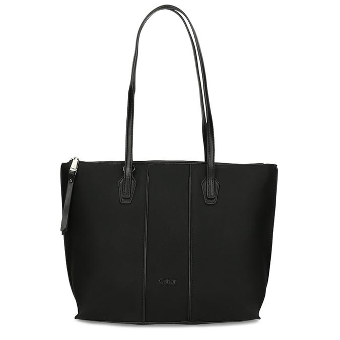Dámská černá kabelka s úzkými uchy gabor, černá, 961-6887 - 26