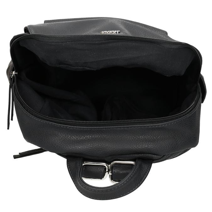 Dámský koženkový batoh v černé barvě gabor, černá, 961-6880 - 15