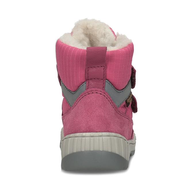 Růžová dívčí zimní obuv s kožíškem froddo, růžová, 199-5615 - 15