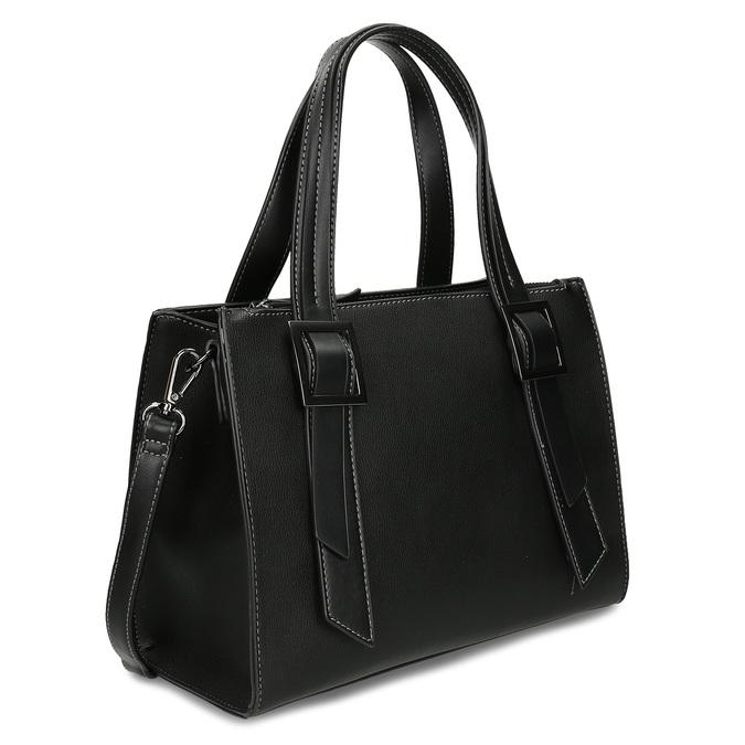 Černá kabelka s výraznými přezkami gabor, černá, 961-6813 - 13