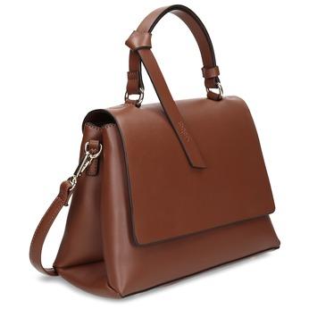 Hnědá dámská kabelka s klopou gabor, hnědá, 961-3805 - 13