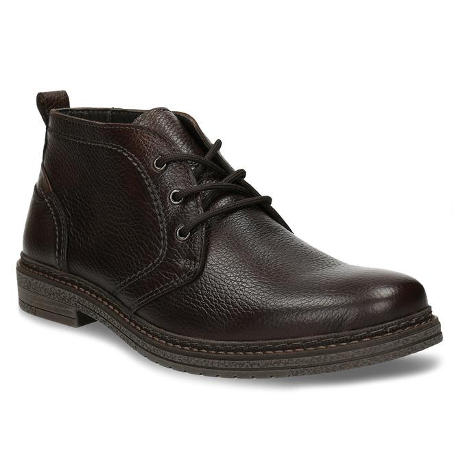 Kožená hnědá pánská kotníková obuv comfit, hnědá, 826-4733 - 13