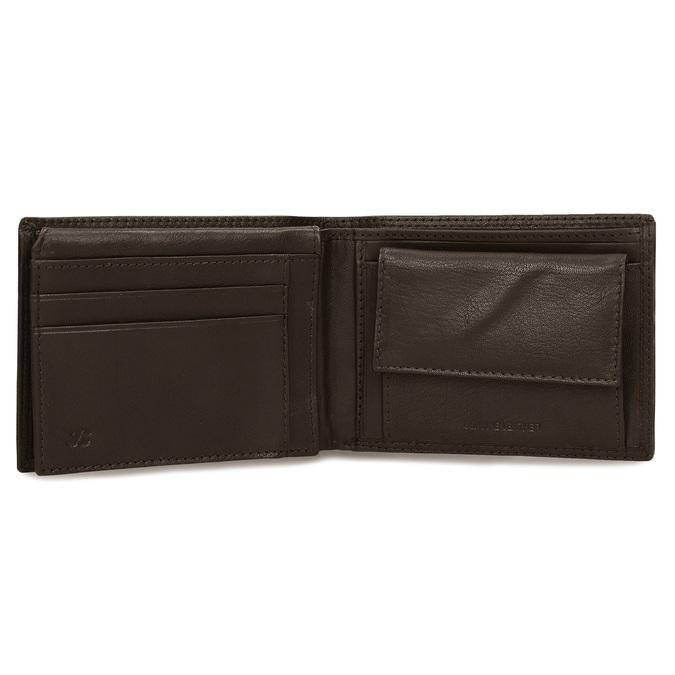 Minimalistická pánská peněženka v hnědé kůži bata, hnědá, 944-4127 - 15