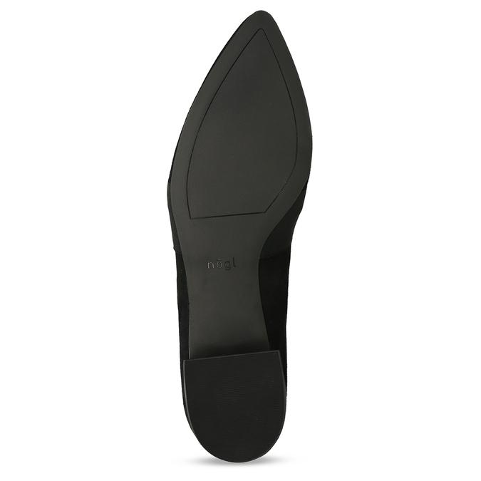 Kožené lodičky v minimalistickém designu hogl, černá, 513-6608 - 18