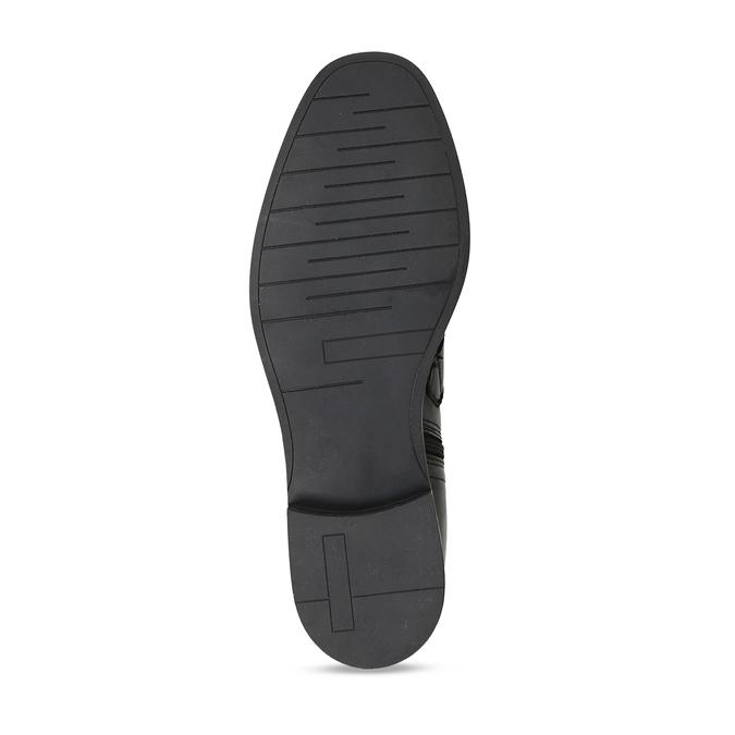 Kožená kotníková obuv s výraznými aplikacemi bata, černá, 594-6733 - 18