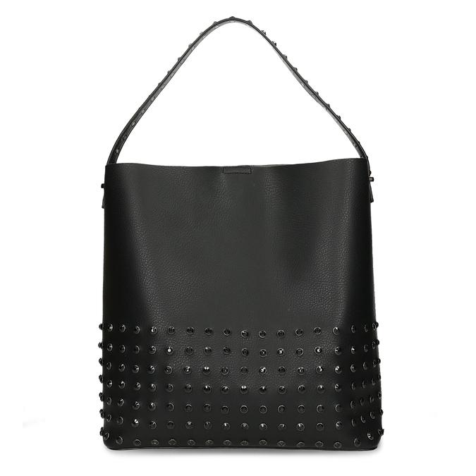 Čtvercová dámská kabelka s kováním bata, černá, 961-6308 - 26